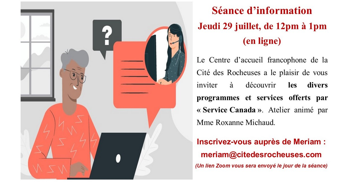 Session d'information : Service Canada